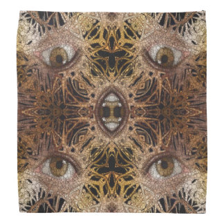 Trippy Brown Eyes Abstract Bandana