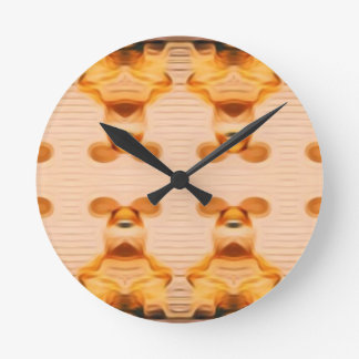 Trippy Bunnies Round Clock