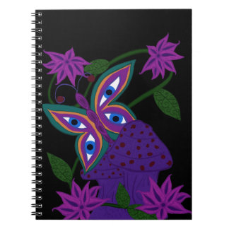 Trippy Butterfly Wonderland Notebook