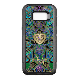 Trippy Celtic Heart Knot Mandala Monogram OtterBox Commuter Samsung Galaxy S8+ Case