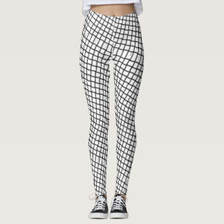 trippy checkers leggings