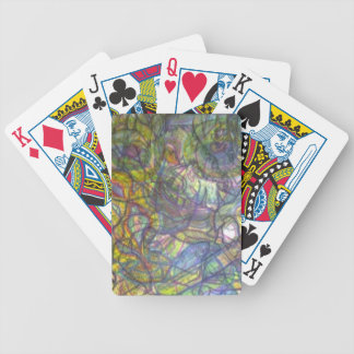 Trippy Colored Pencil Skin Bicycle Playing Cards