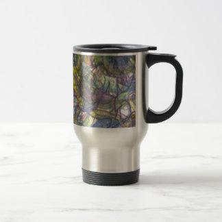 Trippy Colored Pencil Skin Travel Mug