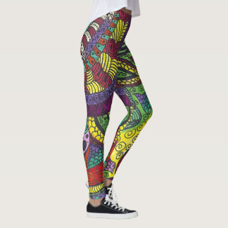 Trippy Colorful Mandala Leggings