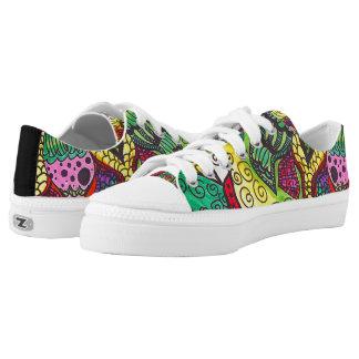 Trippy Colorful Mandala Low-Top Sneakers