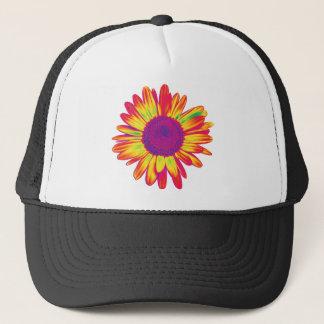 trippy daisy trucker hat