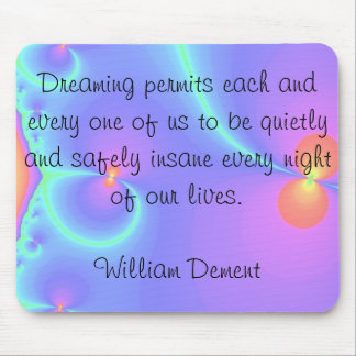 trippy dream quote mousepad