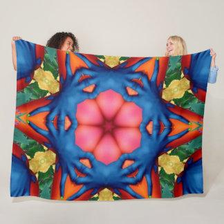 Trippy Fingers Acid Mandala Fleece Blanket