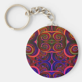 Trippy Florescent Abstract Key Chain