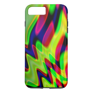 Trippy Florescent Abstract Waves iPhone 7 Plus Case