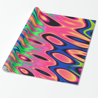 Trippy Florescent Twirls Wrapping Paper