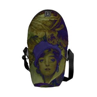 Trippy Florescent Vintage Woman Commuter Bag