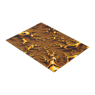 Trippy Fractal Art Chocolate Pudding Abstract Doormat