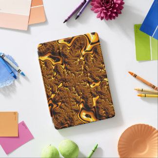 Trippy Fractal Art Chocolate Pudding Abstract iPad Pro Cover