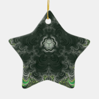 Trippy Fractal Art Christmas Ornament