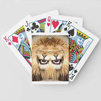 Trippy Happy Lion Bicycle Playing Cards