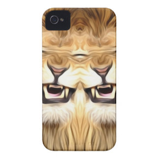 Trippy Happy Lion iPhone 4 Case-Mate Case
