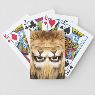 Trippy Happy Lion Poker Deck