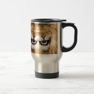Trippy Happy Lion Travel Mug