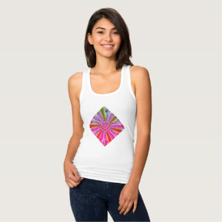 Trippy Hearts Tank Top Womans