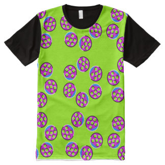 Trippy Ladybugs Optical Illusion Pattern All-Over-Print T-Shirt