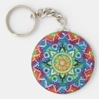 Trippy Mandala Keychain