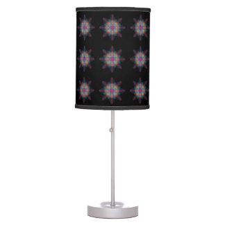 Trippy Multicolored Start Table Lamp