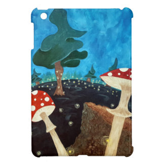 trippy night in the woods iPad mini cover