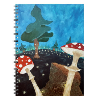 trippy night in the woods notebooks