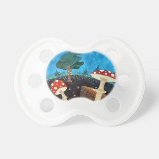 trippy night in the woods pacifier