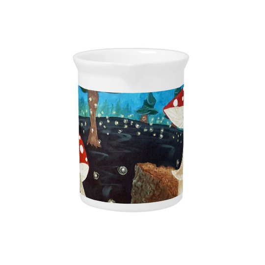trippy night in the woods pitcher