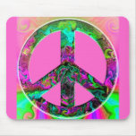 Trippy Pink Peace Sign