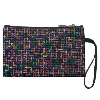 Trippy Pixel Art Wristlet