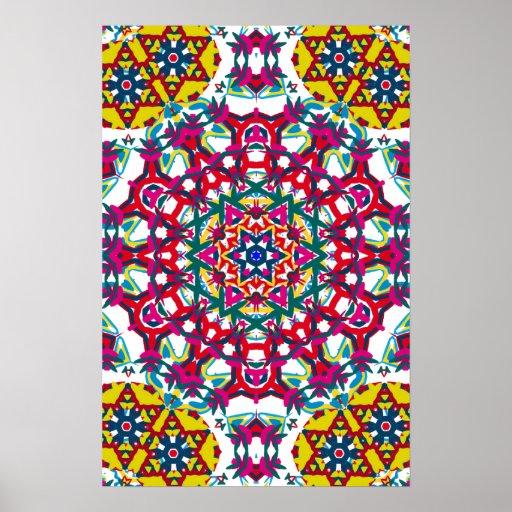 Kaleidoscope Ca: Trippy Poster: Psychedelic Kaleidoscope Artwork