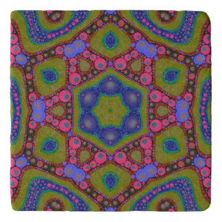 Trippy Psychedelic Abstract Trivet