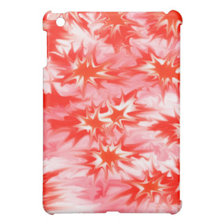 Trippy Psychedelic Multi-colored Red White & Pink iPad Mini Cover