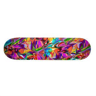 Trippy Psychedelic Multicolor Swirls Skate Deck