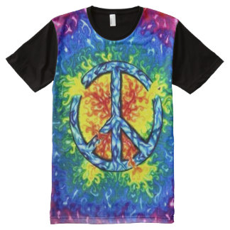 Trippy Psychedelic Peace Sign Art