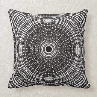 Trippy Psychedelic Radial Dot Design Pillow