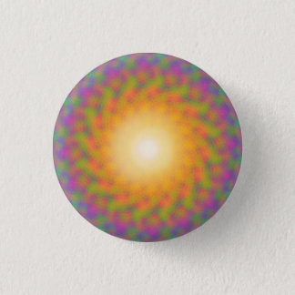 Trippy Rainbow Sunburst 1 Inch Round Button