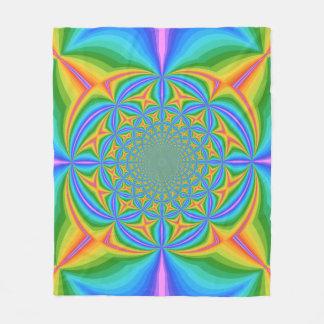 Trippy Rainbow Twists Custom Fleece Blanket