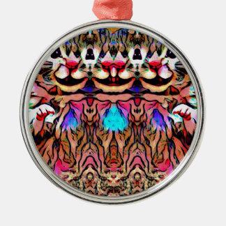 Trippy Rave Rat Metal Ornament