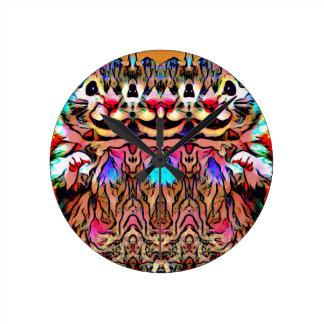 Trippy Rave Rat Round Clock