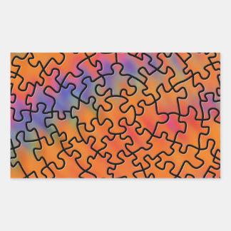 Trippy Retro Puzzle Sticker