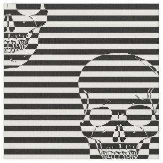 trippy skull fabric
