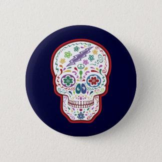 Trippy Sugar Skull 2 Inch Round Button