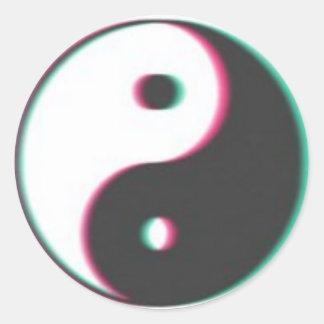trippy ying yang sticker