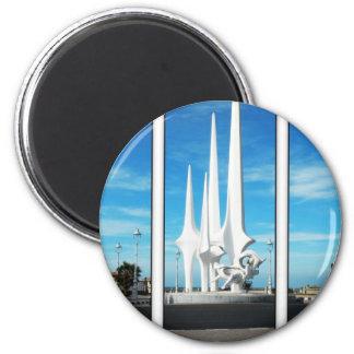 triptych 2 inch round magnet