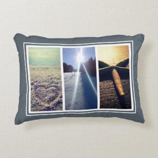 Triptych 3 photo collage template home decor decorative pillow