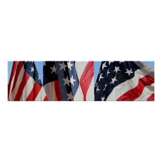 Triptych: American Flag Poster